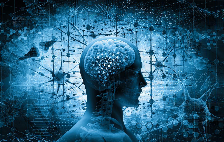 Bildhafte Darstellung des menschlichen Gehirns und von Denkprozessen; Thema: Big Data Jobs